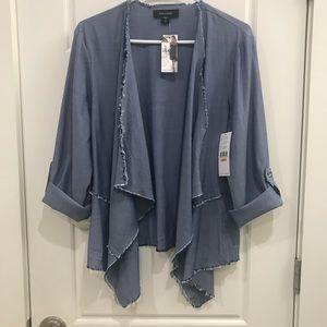 Karen Kane lightweight denim coat. Size small. NWT
